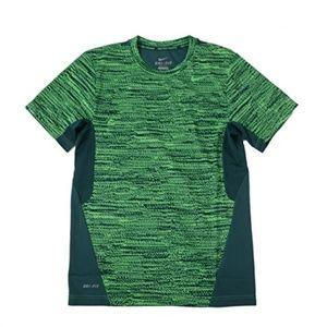 Nike Vapor Grit Short Sleeve Athletic Shirt Green